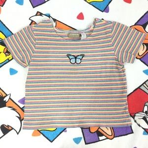 Vintage 90's Liz Claiborne custom butterfly shirt